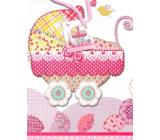 Nekupto Gift paper bag 32.5 x 26 x 13 cm Stroller 1656 30 L - KFL