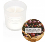 Heart & Home Sweet cherries Soy scented votive candle in glass burning time up to 15 hours 5.8 x 5 cm