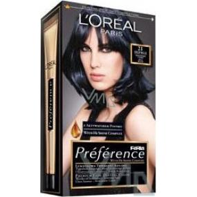 Loreal Paris Préférence Féria hair color 21 deep blue blue - black