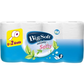 Big Soft Softy perfumed toilet paper white 2 ply 200 pieces 8 rolls