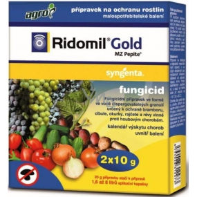 Agro Ridomil Gold Pepite fungicide plant protection product 2 x 10 g