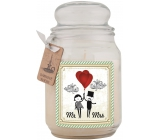 Bohemia Gifts & Cosmetics Svatba dárková vonná svíčka ke svatbě ve skle doba hoření 105 -120 hodin 510 g
