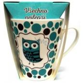 Albi Dobroty Dárková sada hrnek a sypaný čaj bez ibišku, aromatizovaný Všechno nejlepší modrý 300 ml