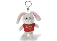 Nici Love You Rabbit in T-shirt keyring 10 cm