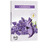 Bispol Aura Lavender - Lavender scented tea candles 6 pieces