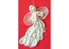 Abaca angel flying flat with silver 31 cm arches