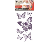Tattoo decals Butterflies with swallowtail 10.5 x 6 cm