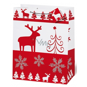 BSB Luxury gift paper bag 36 x 26 x 14 cm Christmas Red & White VDT 334 - A4
