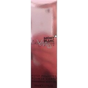 Montblanc Lady Emblem Elixir shimmering body oil for women 50 ml