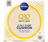 Nivea Q10 Plus Anti-Age Cushion 3in1 care toning cream in a sponge 02 Dark 15 g