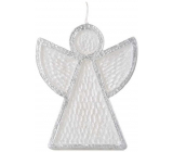 Emocio Angel candle white-silver 95 x 30 x 120 mm