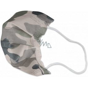 Veil 3-layer protective non-woven disposable, low breathing resistance for children 10 pieces Camouflage