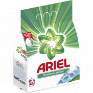 Ariel Mountain Spring washing powder for clean and fragrant laundry without stains 45 doses 3.375 kg