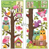 Room Decor Wall Stickers tree two owls 70 x 33 cm 1 arch