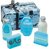 Bomb Cosmetics Distingovaný Gentleman tělové mléko 200 ml + sprchový gel 200 ml + balistik 200 g + mýdlo 2 x 100 g, kosmetická sada