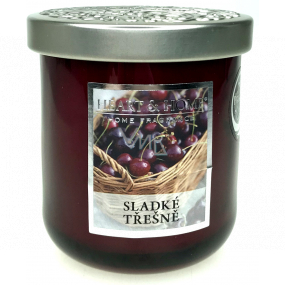 Heart & Home Sweet cherries Soy scented candle medium burns up to 30 hours 115 g