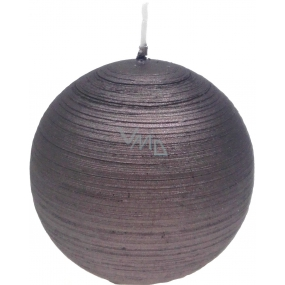 Lima Alfa candle light brown ball 80 mm 1 piece