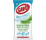 Savo Univerzal Eucalyptus without chlorine cleaning disinfectant wipes 30 pieces