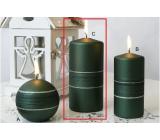 Lima Sparkling candle green matt roller 70 x 150 mm