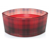 WoodWick Crimson Berries - Red berry scented candle with wooden wide wick and glass boat lid 453 g Holiday limitid 2018
