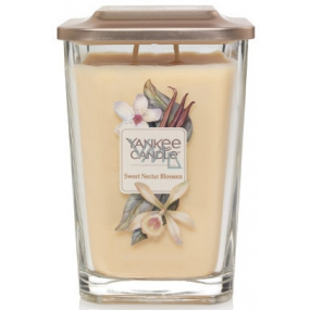 Yankee Candle Sweet Nectar Blossom - Sweet Floral Nectar Soy Scented Candle Elevation Large Glass 2 Wicks 552 g