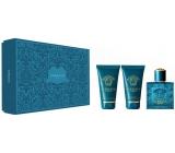 Versace Eros Eau de Toilette EdT 50 ml + After Shave Balm 50 ml + Shower Gel 50 ml