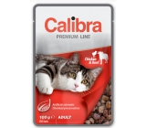 Calibra Premium Chicken and beef in sauce complete food for adult cats pocket 100 g