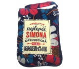 Albi Foldable zippered bag with a name Simona 42 x 41 x 11 cm
