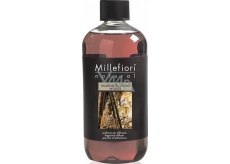 Millefiori Milano Natural Incense & Blond Woods - Incense and Light woods Diffuser refill for incense stalks 250 ml