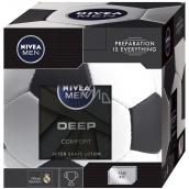 Nivea Men Preparation Deep aftershave 100 ml men + Deep Shower Gel 250 ml + Deep antiperspirant 50 ml + Men Cream 150 ml, cosmetic set