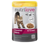 Nutrilove Stewed fillets with juicy chicken in sauce complete food for cats pocket 85 g