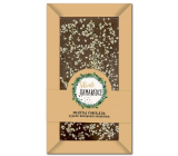 Bohemia Gifts Great friend's handmade milk chocolate sprinkled with hemp seeds 80 g