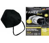 Famex Respirator oral protective 5-layer FFP2 face mask black 10 pieces