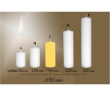 Lima Candle smooth yellow cylinder 60 x 150 mm 1 piece
