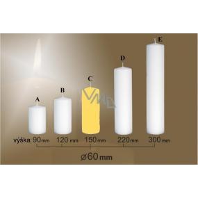 Lima Svíčka hladká žlutá válec 60 x 150 mm 1 kus