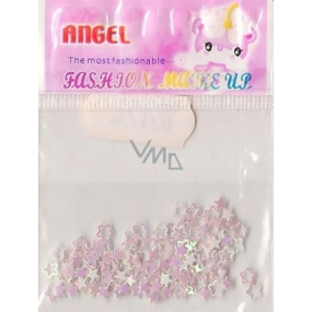 Angel Ornaments flowers and stars pink 1 pack