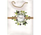 Jeanne En Provence Divine Olive papírová taška střední 24 x 30 cm