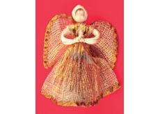 Abaca angel with gold trim 15 cm