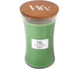 WoodWick Palm leaf - Palm leaf scented candle with wooden wick and glass lid size 609.5 g