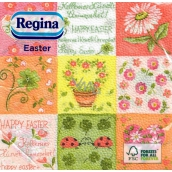 Regina Easter paper napkins Happy Easter - colored squares 1 layer 33 x 33 cm 20 pieces