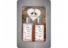 Bohemia Gifts Happy Home Shower Gel for Women 250 ml + hair shampoo 250 ml + wooden heart 1 piece, tin box cosmetic set