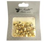 Gold bells 1.5 cm 20 pieces
