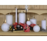 Lima Alfa Frost effect candle white cylinder 80 x 150 mm 1 piece