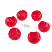 Red nose, clown nose, plastic noses with rubber band 6 pieces