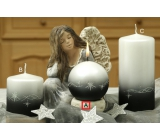 Lima Třpyt hvězdy svíčka černá koule průměr 80 mm 1 kus
