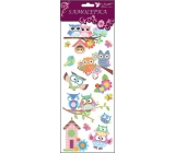 Room Decor Stickers with glitter tall booth 34.5 x 12.5 cm
