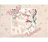 Nekupto Postcard with glitter Christmas pattern 5 Merry Christmas 15 x 11 cm