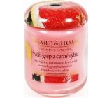 Heart & Home Svěží grep a černý rybíz Sojová vonná svíčka střední hoří až 30 hodin 110 g