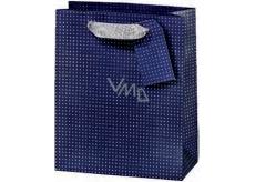 BSB Luxury gift paper bag 36 x 10.5 x 10 cm Dark blue with polka dots LDT 374-F