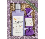 Bohemia Gifts & Cosmetics Riding and bicycle Lavender shower gel 250 ml + toilet soap 30 g, cosmetic set